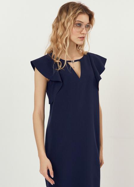 Платье-мини с рукавами-крылышками - фото 4