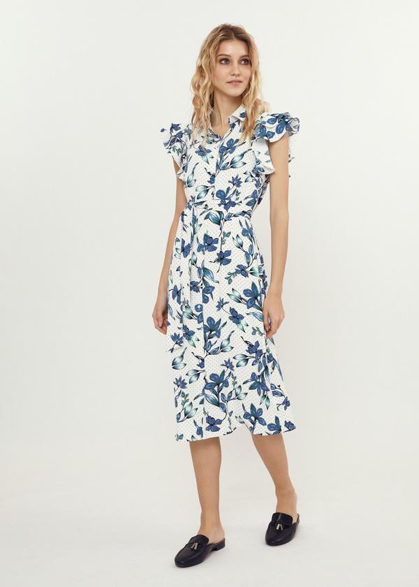 Платье с рукавами-крылышками - фото 1