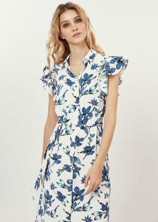 Платье с рукавами-крылышками - фото 2