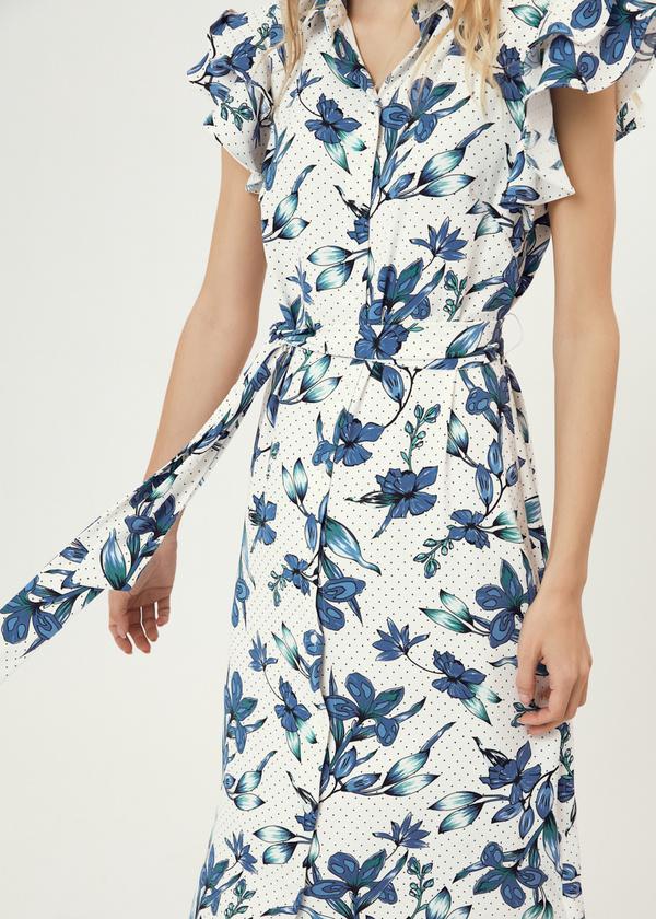 Платье с рукавами-крылышками - фото 3