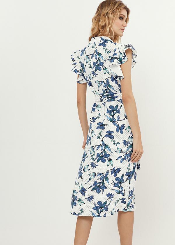 Платье с рукавами-крылышками - фото 4