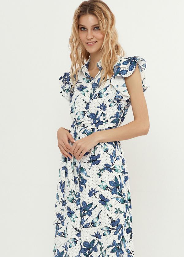 Платье с рукавами-крылышками - фото 5