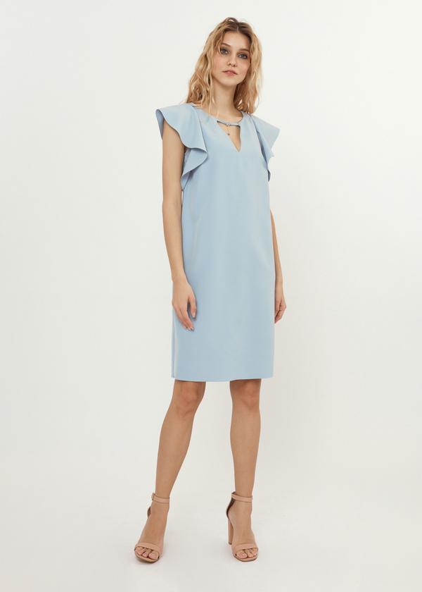 Платье-мини с рукавами-крылышками - фото 6