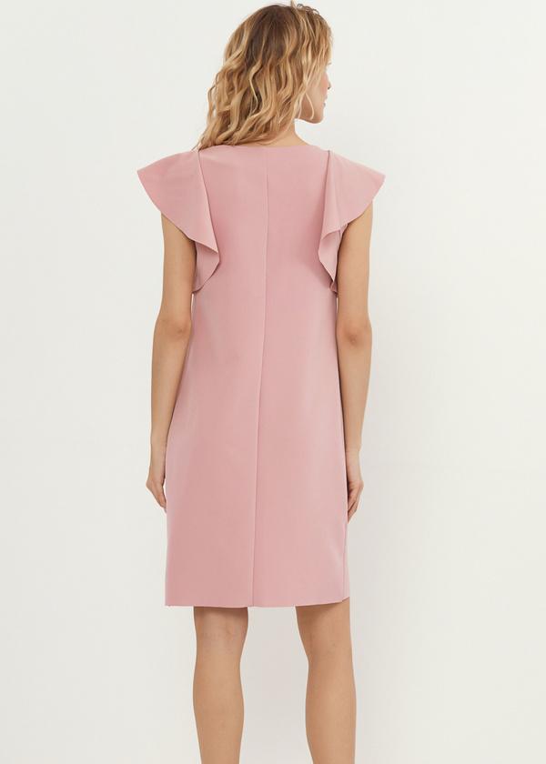 Платье-мини с рукавами-крылышками - фото 3