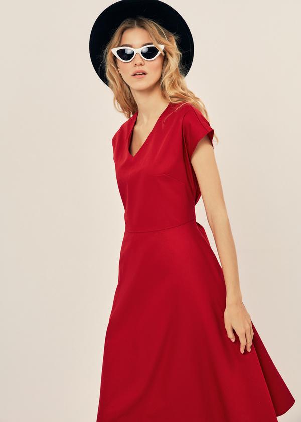 Платье-миди с поясом 100% хлопок - фото 2