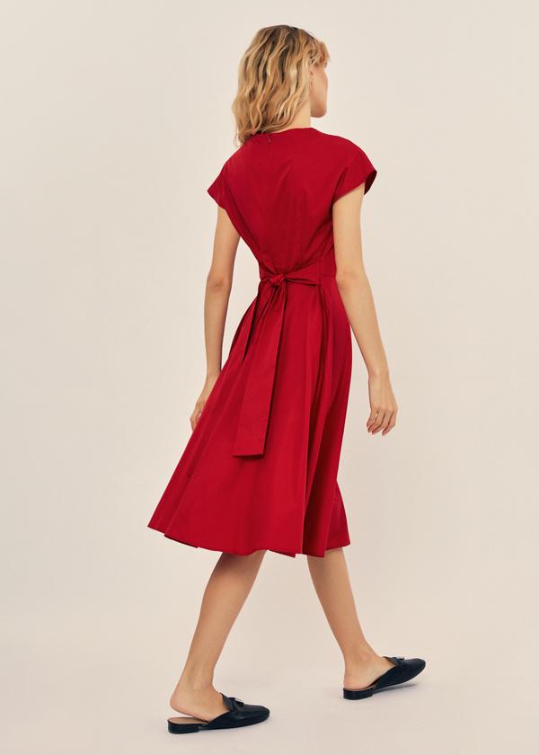 Платье-миди с поясом 100% хлопок - фото 3