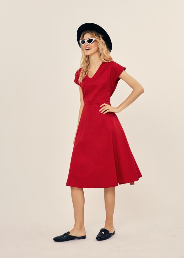 Платье-миди с поясом 100% хлопок - фото 5