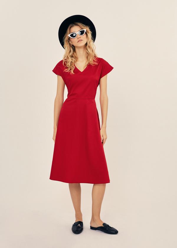 Платье-миди с поясом 100% хлопок - фото 6