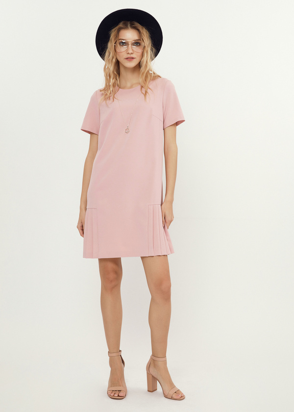 Платье-мини с плиссированной юбкой - фото 2