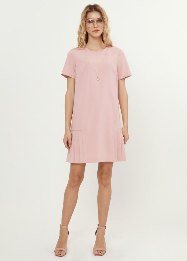 Платье-мини с плиссированной юбкой - фото 4