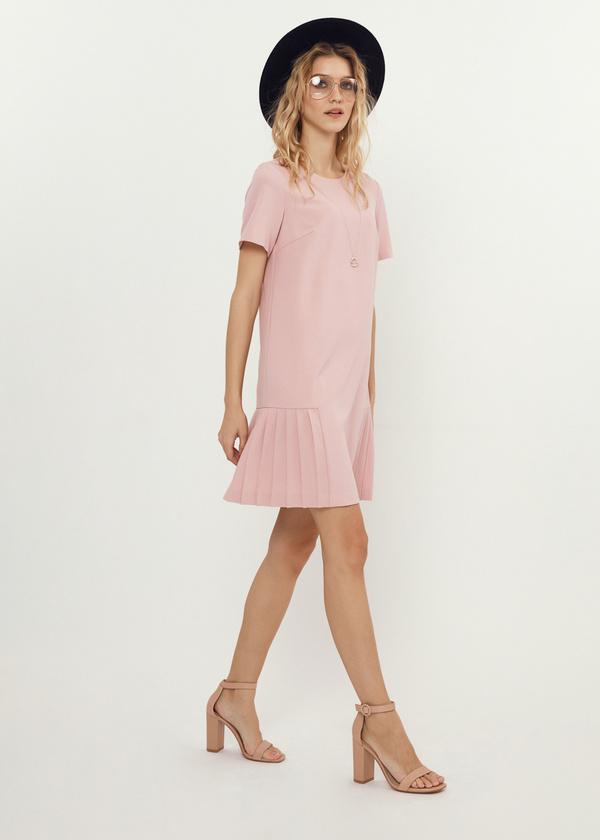Платье-мини с плиссированной юбкой - фото 5