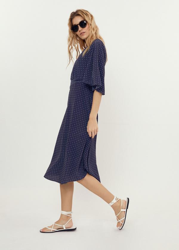 Платье-миди с завязками на спине - фото 6