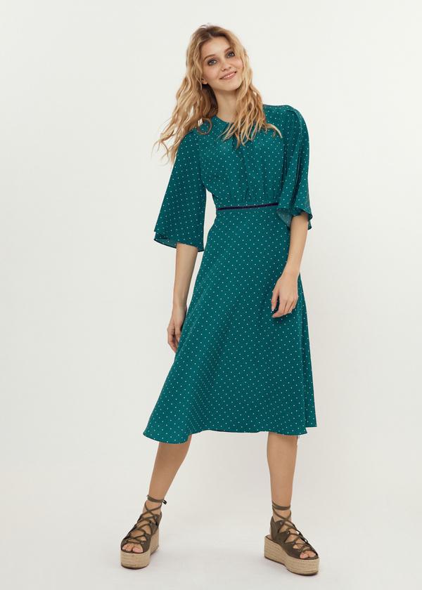 Платье-миди с завязками на спине - фото 1