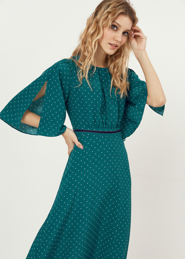 Платье-миди с завязками на спине - фото 2