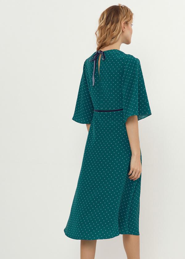 Платье-миди с завязками на спине - фото 3