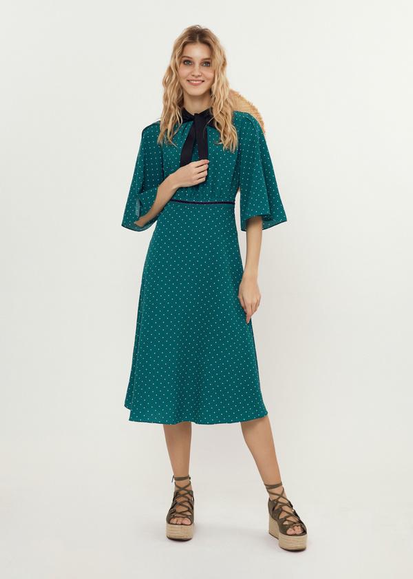 Платье-миди с завязками на спине - фото 4