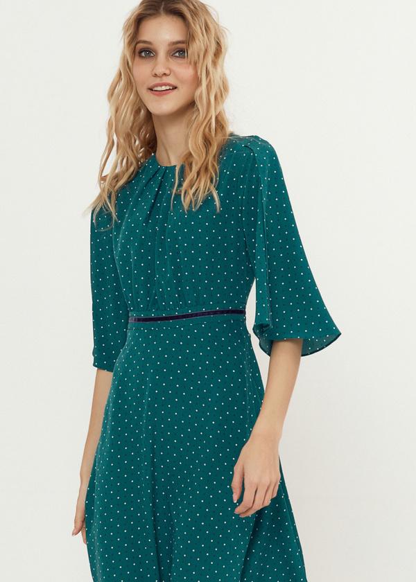 Платье-миди с завязками на спине - фото 5