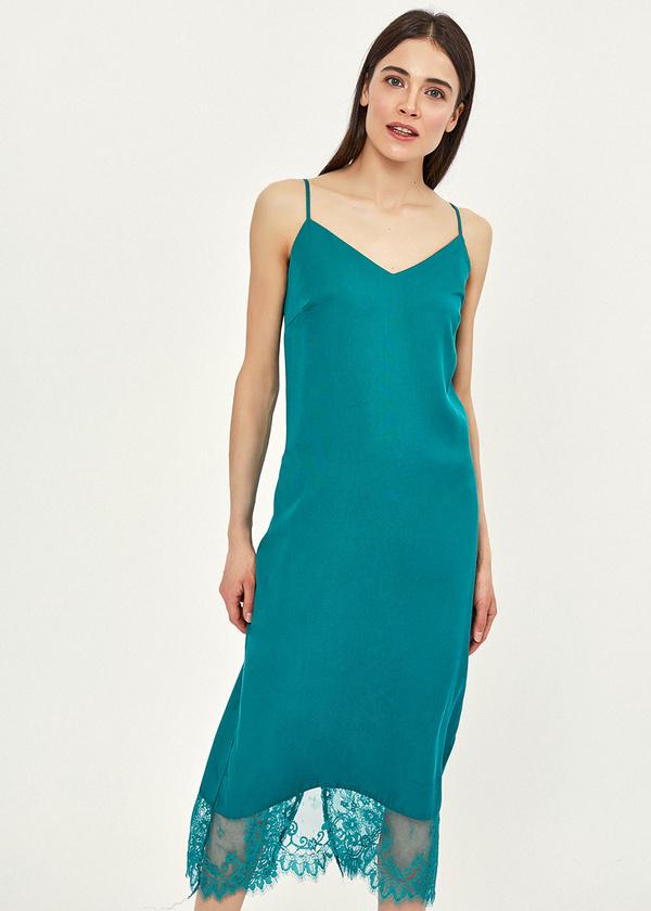 Платье-комбинация с кружевом - фото 2