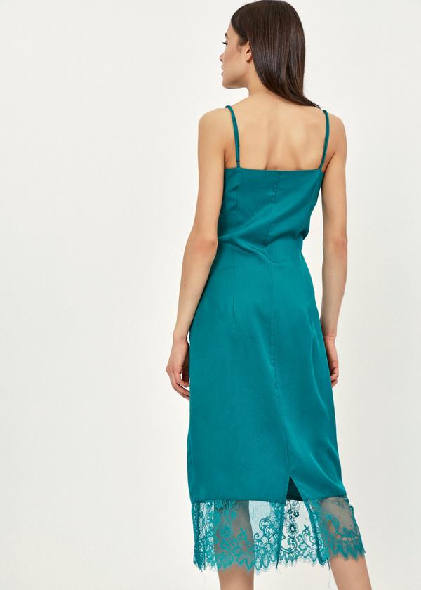 Платье-комбинация с кружевом - фото 3