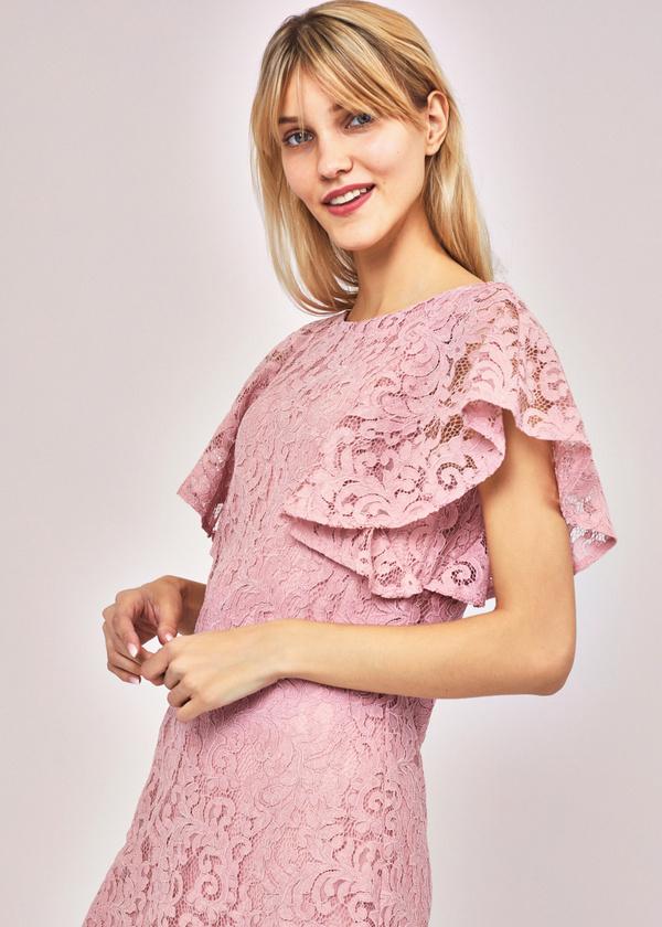 Ажурное платье с рукавами-крылышками - фото 2