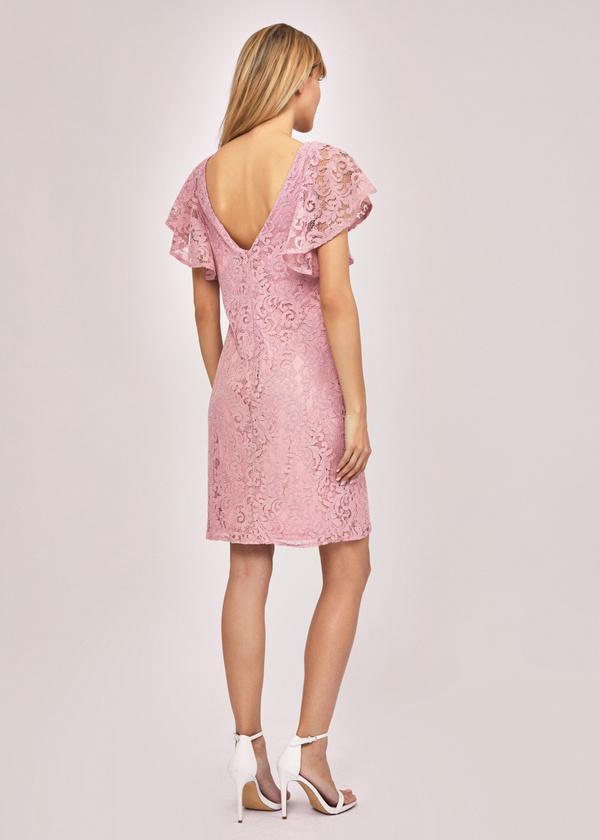 Ажурное платье с рукавами-крылышками - фото 3