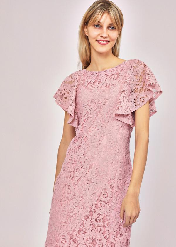 Ажурное платье с рукавами-крылышками - фото 4