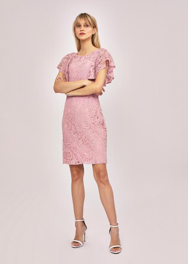 Ажурное платье с рукавами-крылышками - фото 5