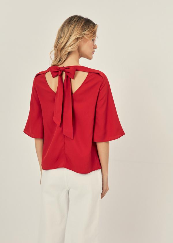 Блузка с рукавами клеш - фото 2