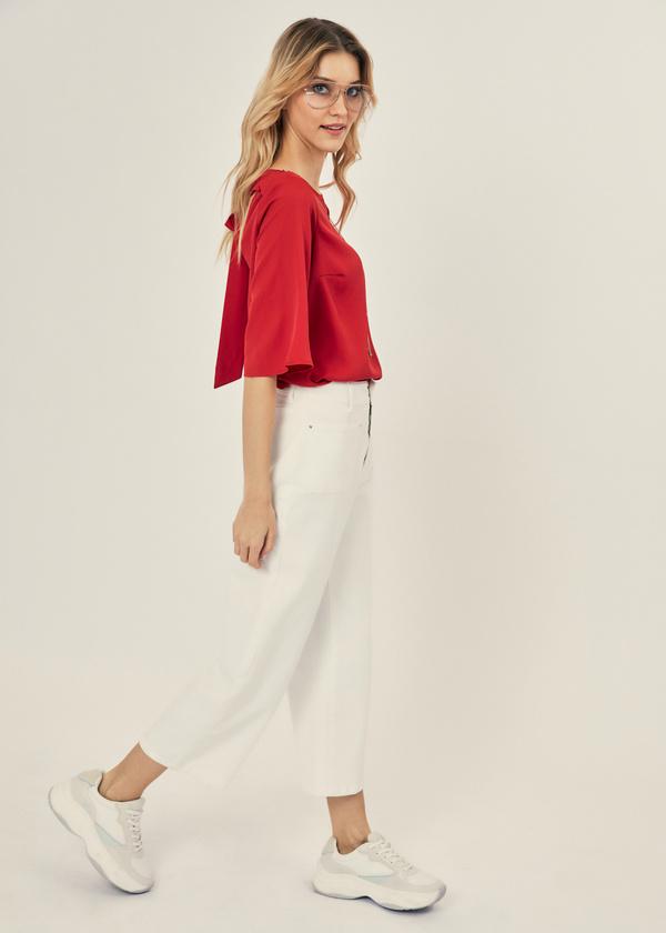 Блузка с рукавами клеш - фото 4