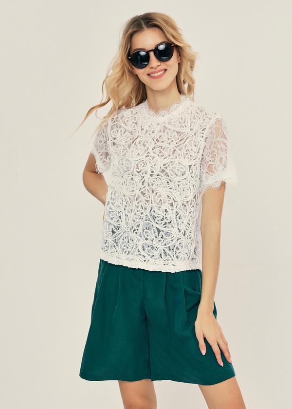 Ажурная блузка с молнией на спине - фото 1