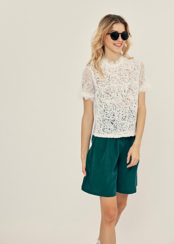 Ажурная блузка с молнией на спине - фото 4