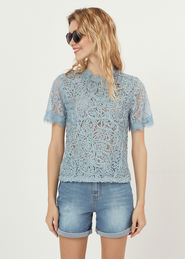 Ажурная блузка с молнией на спине - фото 3