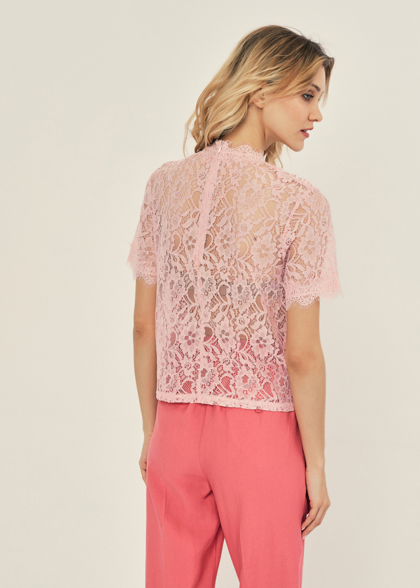 Ажурная блузка с молнией на спине - фото 2