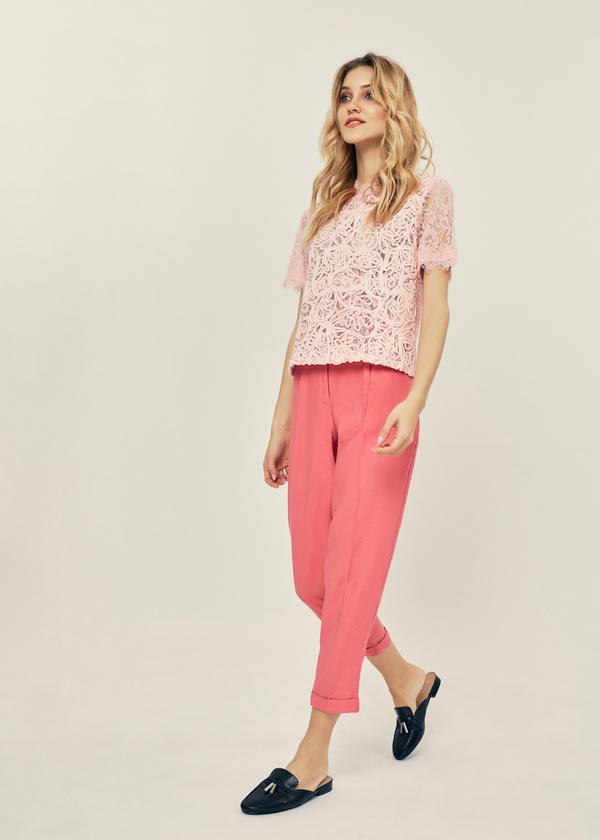 Ажурная блузка с молнией на спине - фото 5