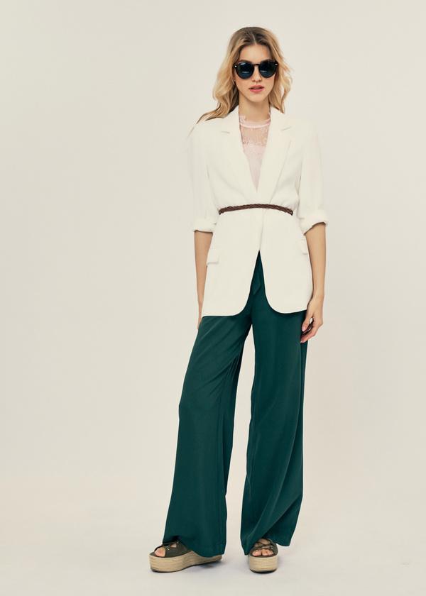 Легкая блуза с кружевом - фото 5