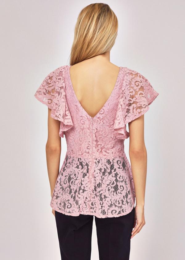 Ажурная блузка с баской - фото 2