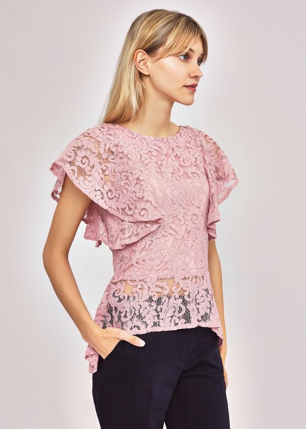 Ажурная блузка с баской - фото 3
