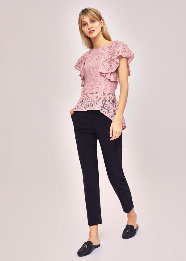 Ажурная блузка с баской - фото 5