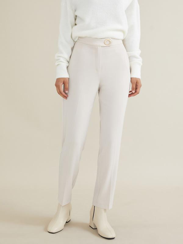Укороченные брюки с защипами - фото 1