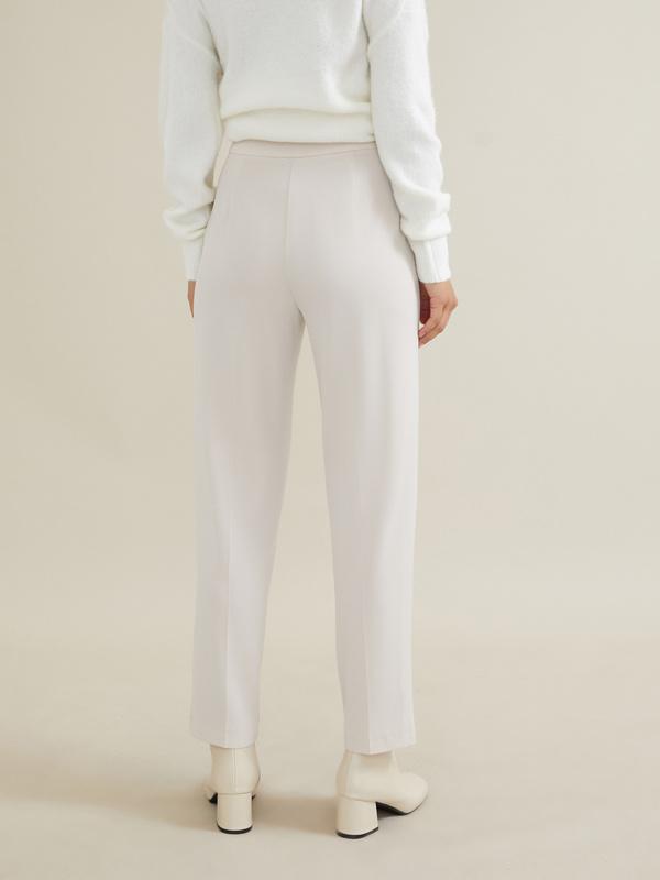 Укороченные брюки с защипами - фото 2