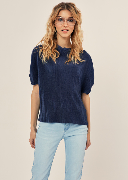 Плиссированная блузка оверсайз - фото 2