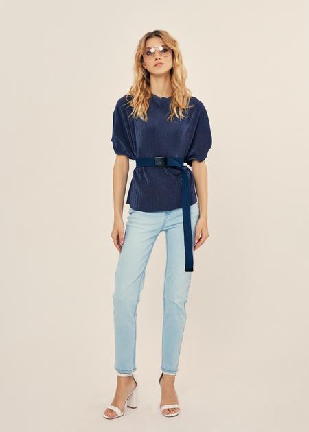 Плиссированная блузка оверсайз - фото 5