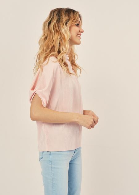 Плиссированная блузка оверсайз - фото 4