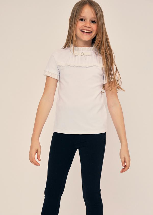 Блузка для девочек с манишкой - фото 1