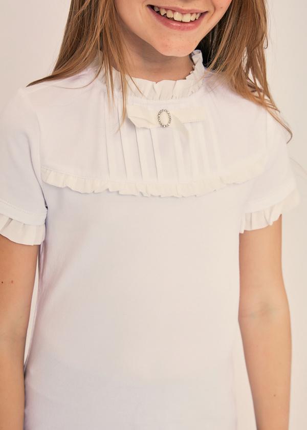 Блузка для девочек с манишкой - фото 2