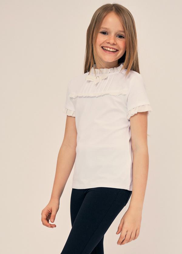 Блузка для девочек с манишкой - фото 3