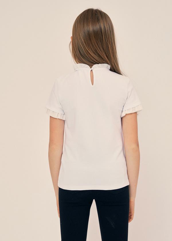 Блузка для девочек с манишкой - фото 4