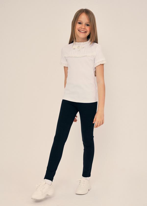 Блузка для девочек с манишкой - фото 5