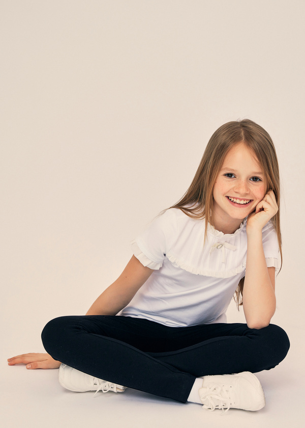 Блузка для девочек с манишкой - фото 6