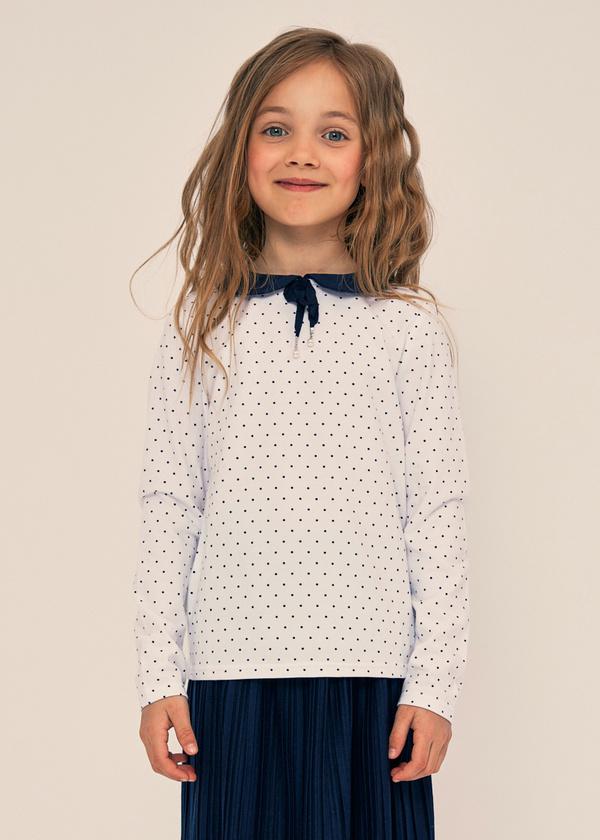 Блузка для девочек с отложным воротником - фото 2